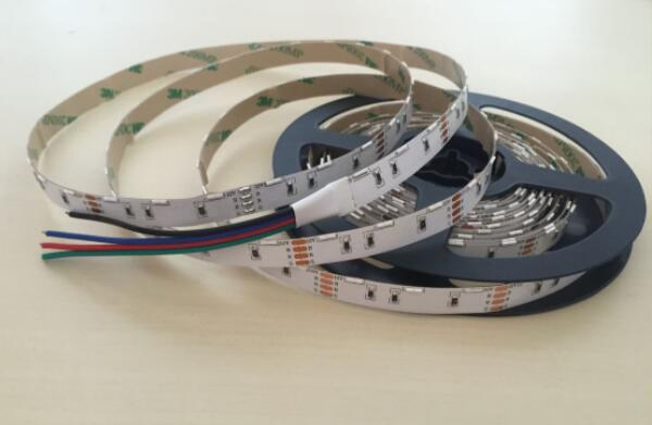 RGB 020 SMD 60pcs / Meters Side Emitting Flexible Strip Lights With DC12V 0