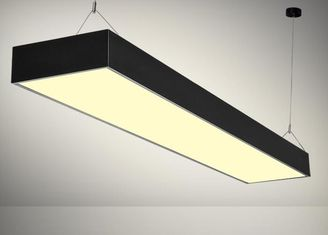 Cina Linear LED Flat Panel Light 48W 60W Instalasi Warna Hitam Pendant pemasok