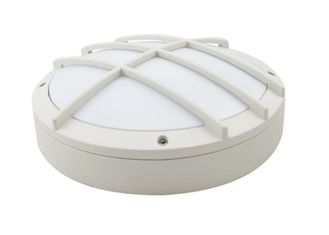 Cina Bulat Bulkhead Light 1600lm, Led Bulkhead Wall Light Dengan Built In Motion Sensor pemasok